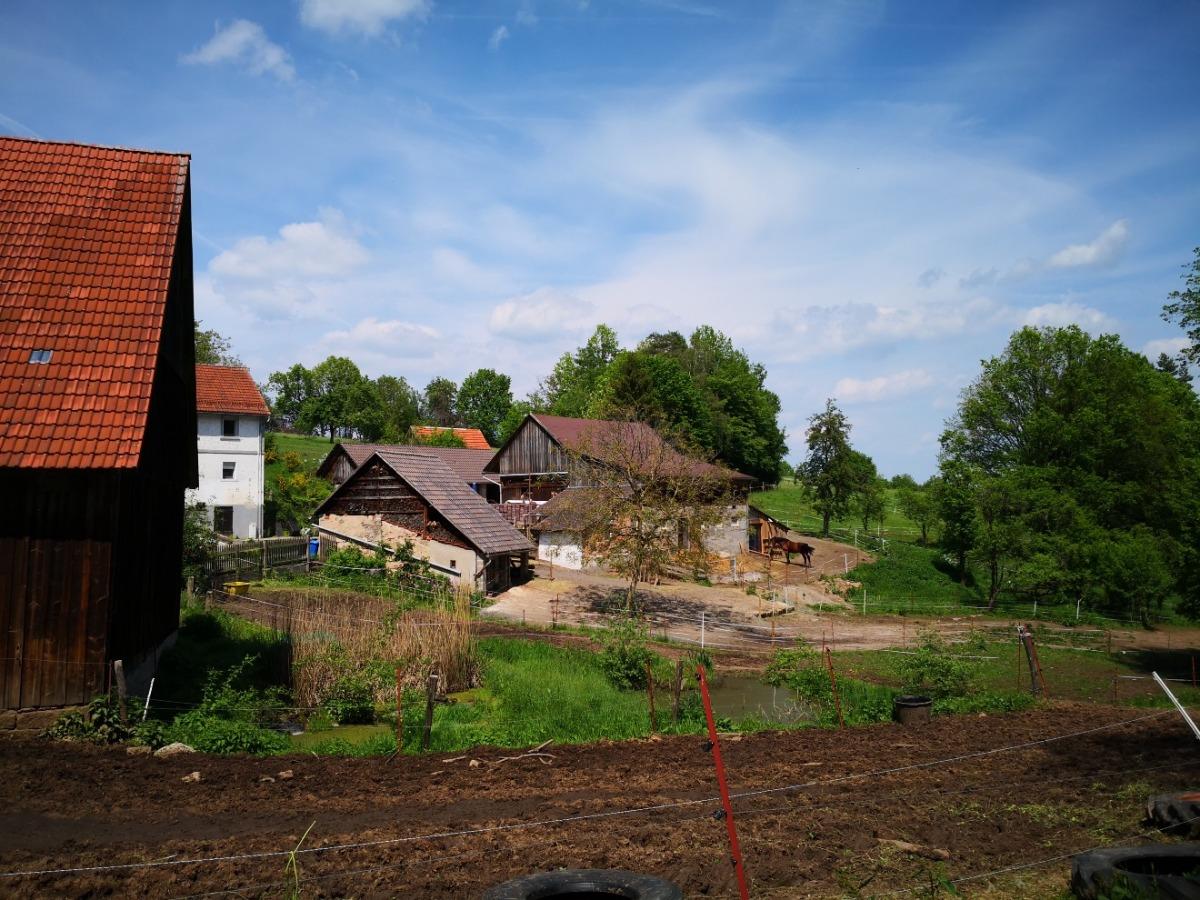 Ansicht landwirtschaftliche Gebäude
