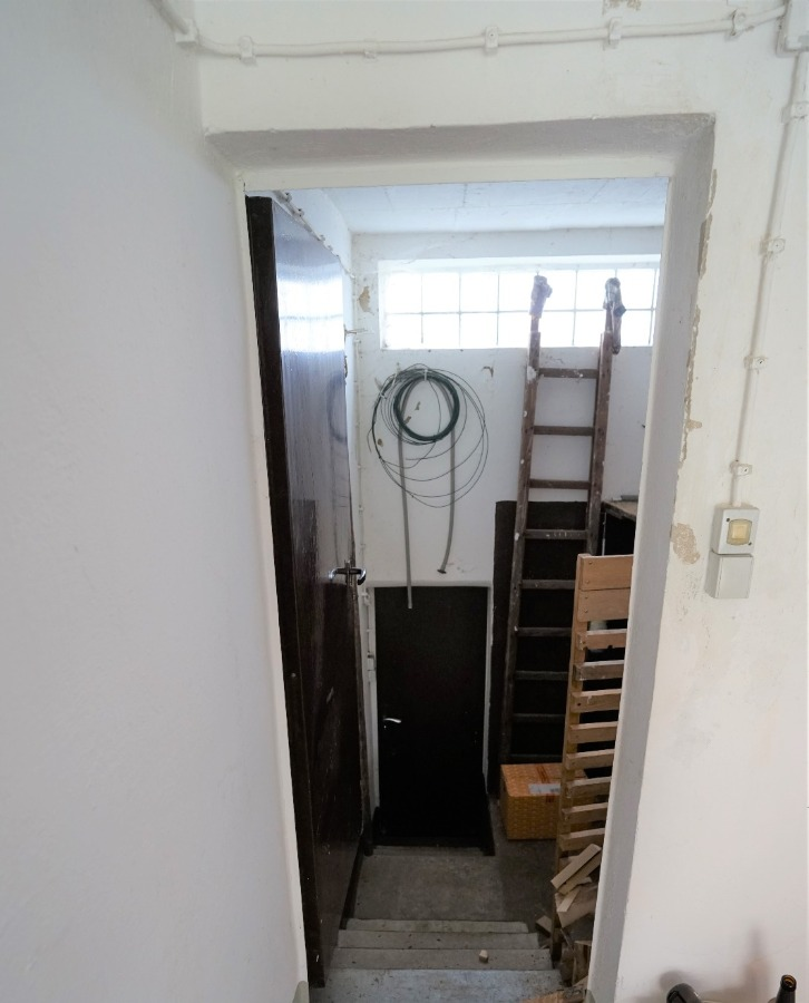 Treppenabgang von Garage zum Garten