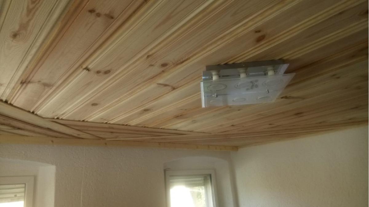 Holzdecke Wohnzimmer EG