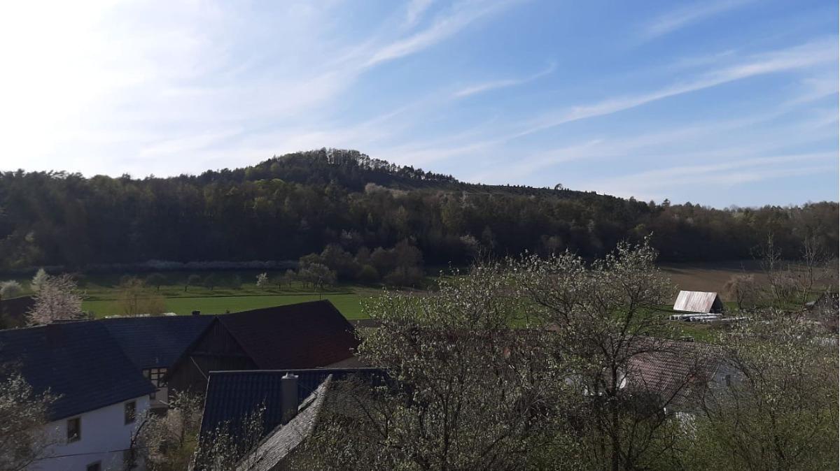 Ausblick von oberhalb des Grundstücks