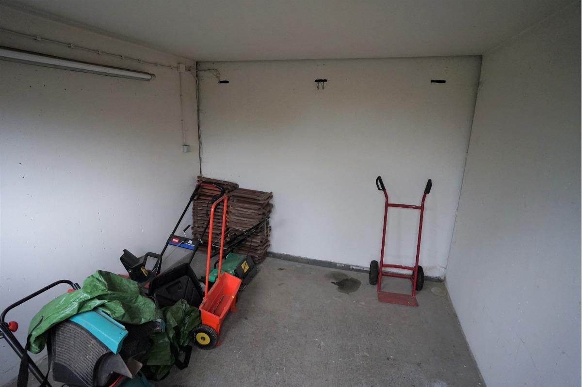 Lagerraum hinter der Garage